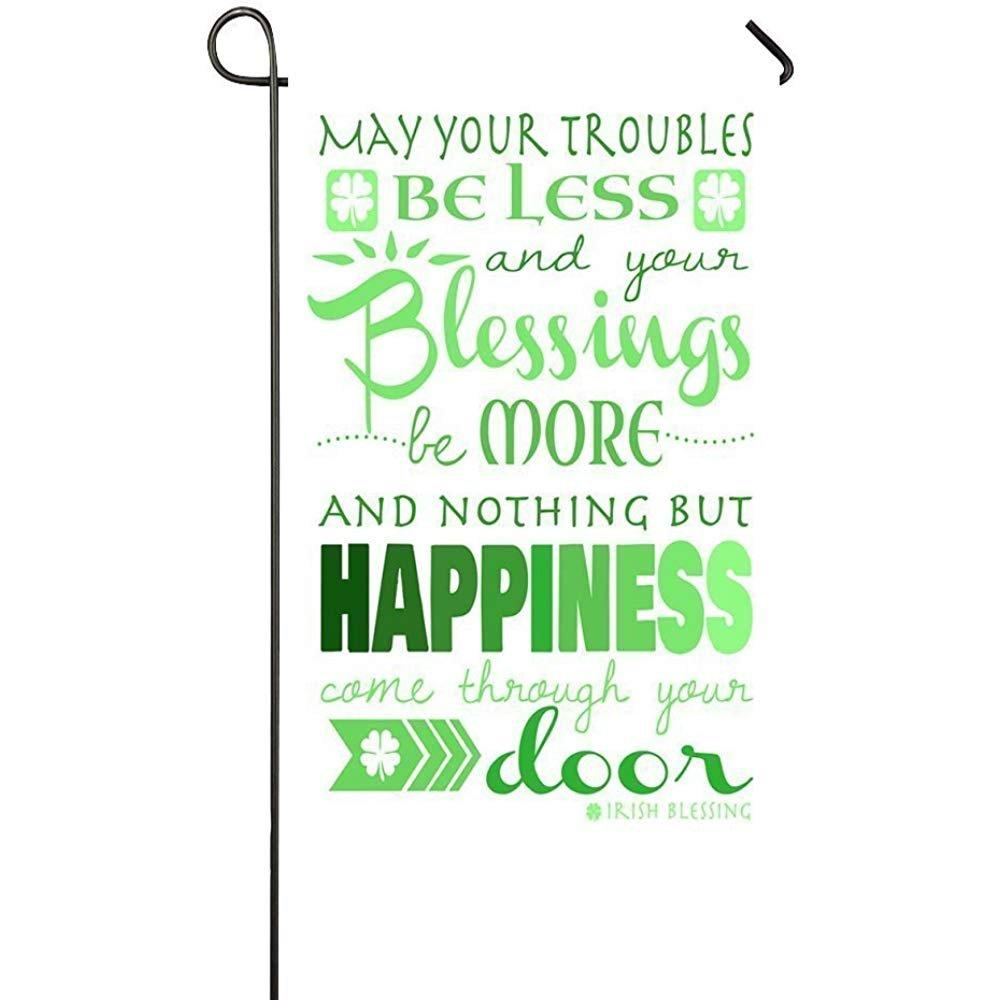 Amazon.com : Holiday Decor Outdoor House Flag- Irish Blessing St ...