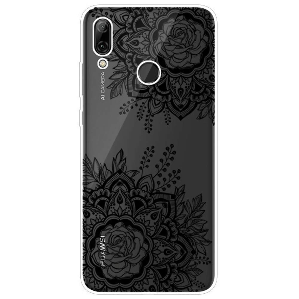 Felfy Kompatibel mit Huawei P Smart 2019 H/ülle Silikon Transparent Case Ultra D/ünn Gel TPU Handy H/ülle mit Mandala Blume Hund Katze Panda Bunt Muster Schutzh/ülle Handyh/ülle Sto/ßfest H/üllen Case