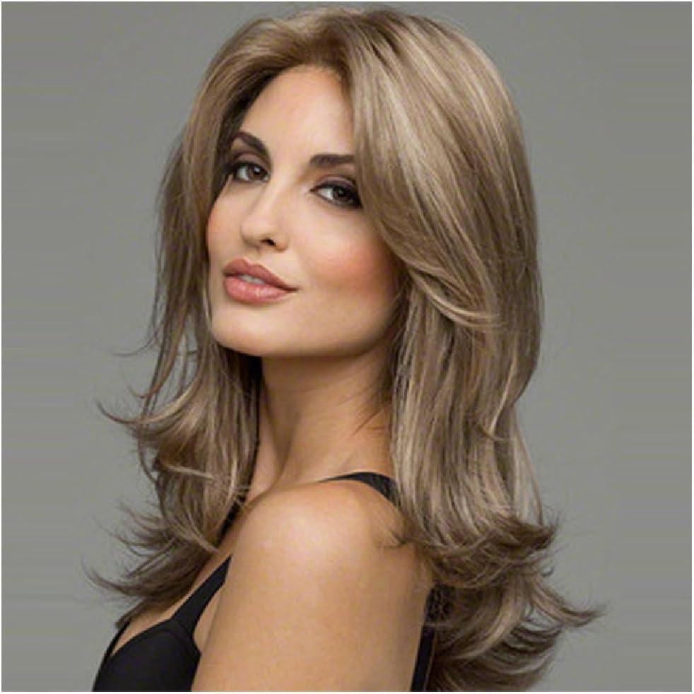 XIAPENGEuropa y los Estados Unidos peluca mujeres cabello largo fibra capilares: Amazon.es: Salud y cuidado personal