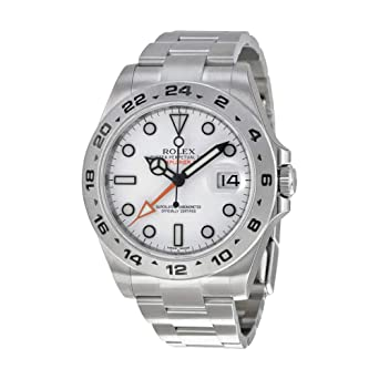 079f764670c Amazon.com: Rolex Explorer II White Dial Stainless Steel Oyster ...