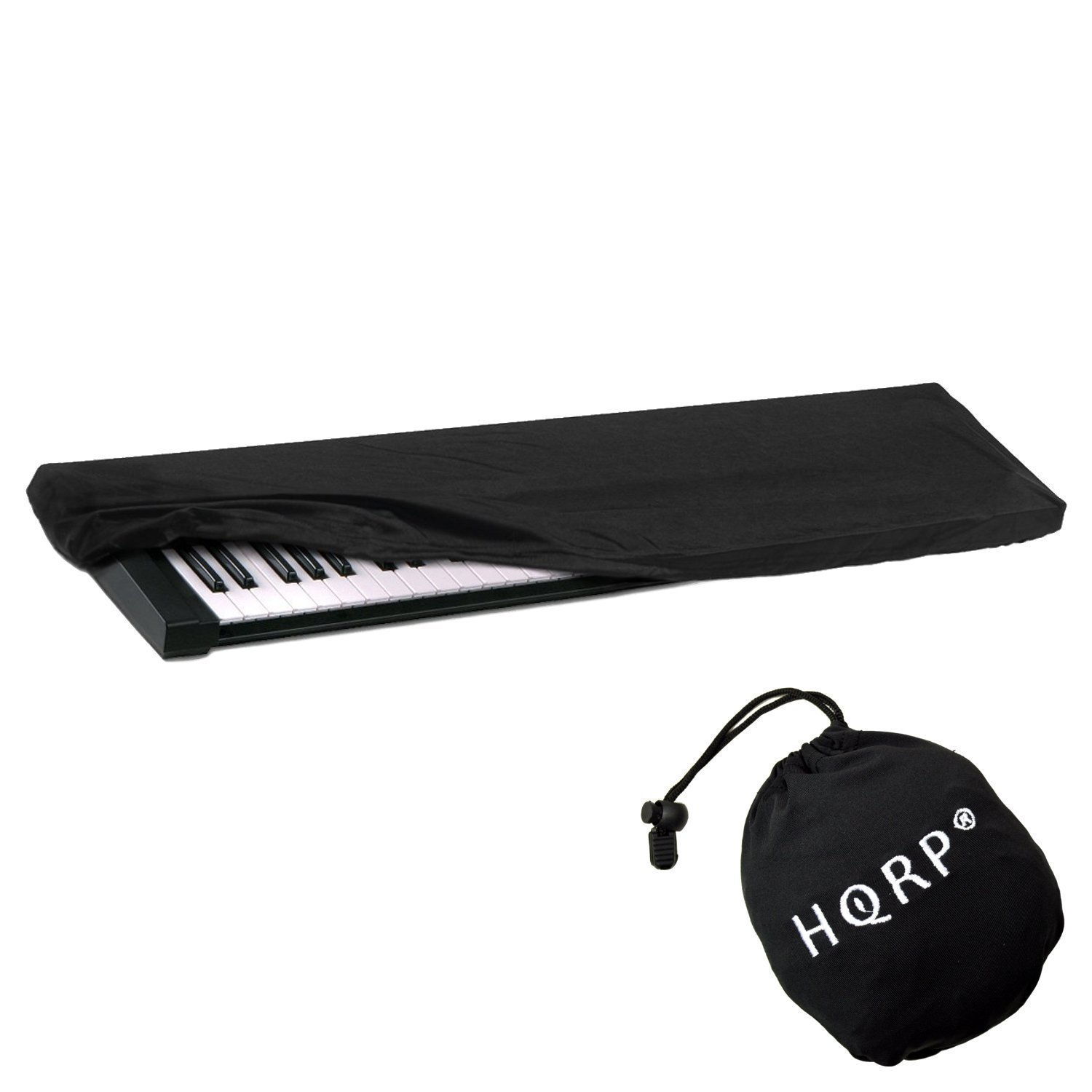 HQRP Elastic Dust Cover w/ Bag for Casio WK-245 / WK245 / WK-6600 / WK6600 / WK-7600 / WK7600 Electronic Keyboard Digital Piano + HQRP Coaster 8877747111515115