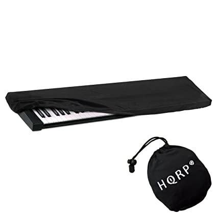 HQRP Keyboard Dust Cover (Black) for Yamaha MOTIF XF7, Piaggero NP-31 NP-11  NP-V60 S70-XS, Tyros-5, YPG-235, DGX-300, YPG-225 Digital Piano