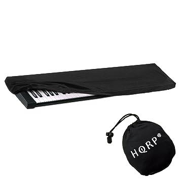 Hqrp Elastic Dust Cover Wbag Black For Yamaha P 115 P115 P 115b P115b P 115wh P115wh Electronic Keyboard Digital Piano Hqrp Coaster