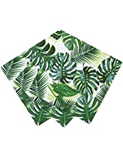 Talking Tables Tropical Fiesta Palm Cocktail Napkin, 20PK, Paper Multi-Colour, 2.5 x 12.5 x 12.5 cm
