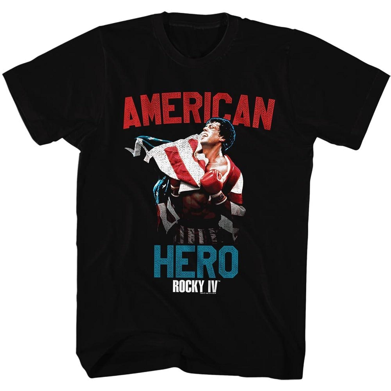 Rocky 1970s Sports Boxing Champion American Hero Movie Stallone Adult TShirt Tee