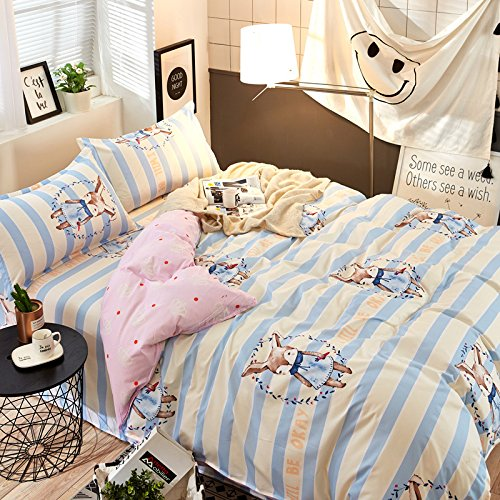 Wiss home Textured Stripe Duvet Cover Bedding Quilt Case Single Double King Super King,Floral Design Duvet Cover Bedding,single piece-P-200x230cm(79x91inch)