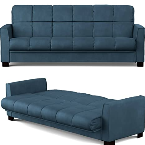 Amazon Com Convertible Couch Bed With Removable Cushion Cover