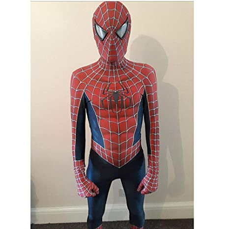 RNGNBKLS Traje De Spiderman Niño Adulto Juego De rol Mono ...