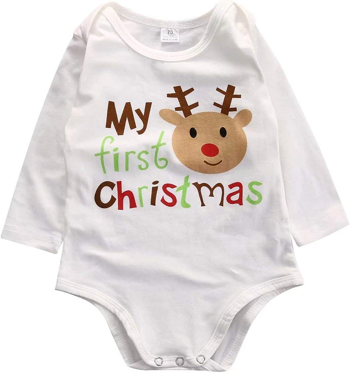 Geagodelia Strampler f/ür Neugeborene mit Weihnachten f/ür Jungen und M/ädchen lang/ärmelig