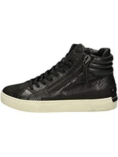 ce53a04cef Crime London Sneakers Alte Donna Nera para Platform Light: Amazon.it ...