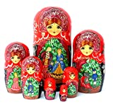 Nutcracker fairy tale Russian Hand Carved Hand Painted Nesting 7 piece DOLL Set 7'' tall / ballet