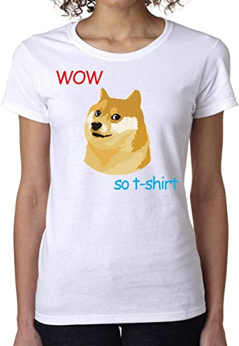 PasTomka Doge Wow So T Womens T-Shirt Camiseta Mujer Medium: Amazon.es: Ropa y accesorios