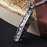 Panwa Jewelry Vintage Gothic Skull Steampunk Vampire Coffin Cross Necklace Chain Pendant