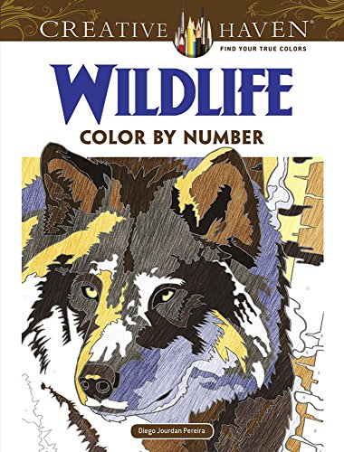 Creative Haven Wildlife Color by Number Coloring Book (Adult Coloring) [Pereira, Diego Jourdan] (Tapa Blanda)