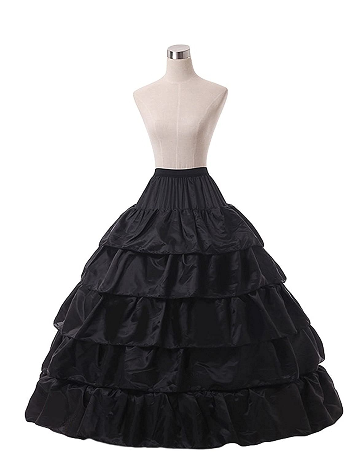 ec073038ef Verabeauty Petticoat Skirt for Women Puffy Ball Gown Slip Crinoline  Underskirt Black at Amazon Women's Clothing store: