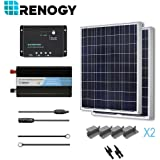 RENOGY® 200 Watt 12 Volt Polycrystalline Solar Complete Kit with Wanderer Charge Controller