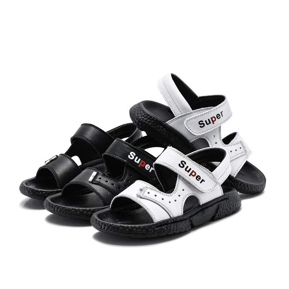 Baviue Leather Open Toe Outdoor Beach Sandles Boys Sandals
