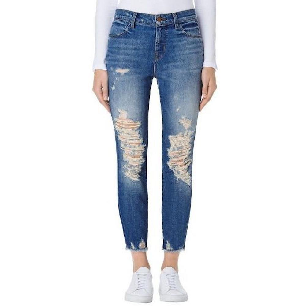 J Brand Jeans Womens Alana High Rise Crop Skinny Jean in Torrent