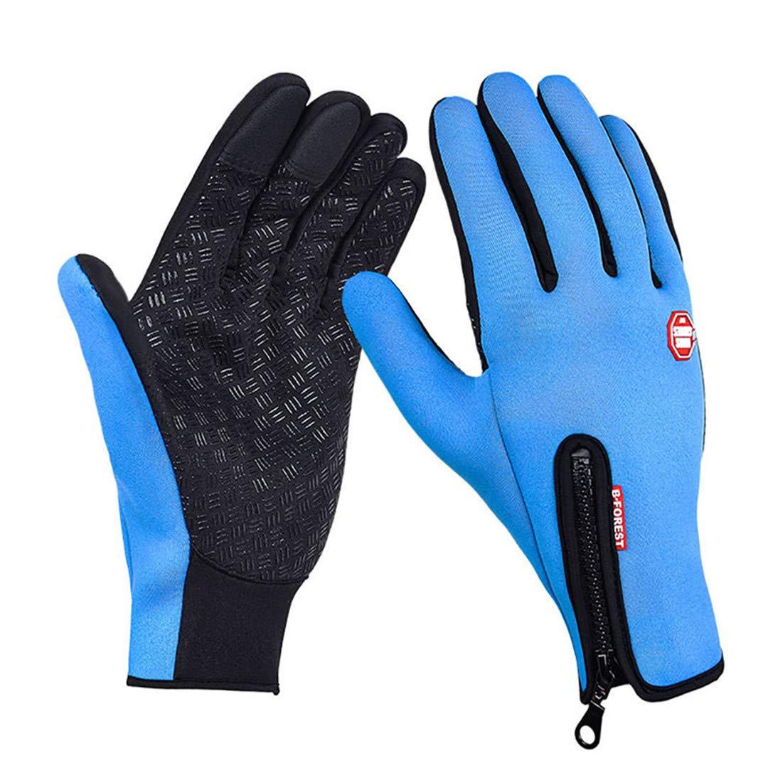 Women Men Ski Gloves Snowboard Gloves Winter Motorcycle Riding Waterproof Snow Camping Leisure Mittens Ter-Ganriss