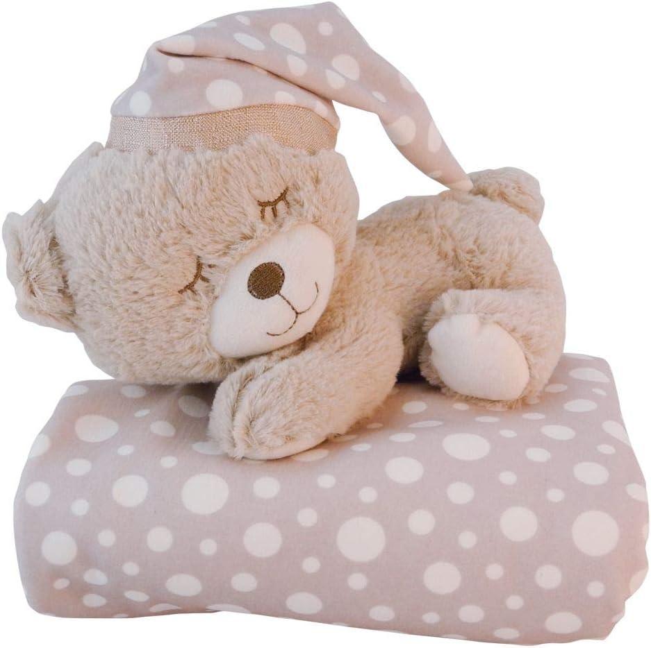 Bieco - Manta para bebé, diseño de Osito Peti, Juego de 2 Unidades, Manta Suave y Peluche