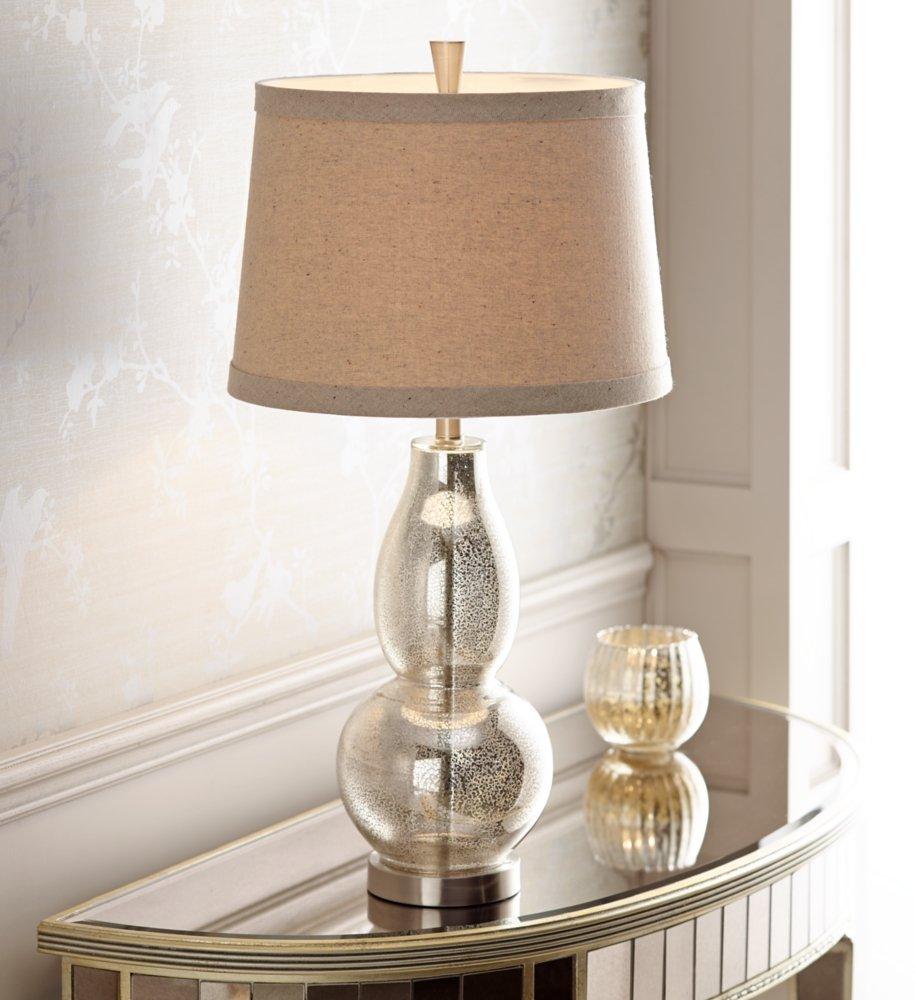 Double gourd 30 12 high mercury glass table lamp amazon geotapseo Choice Image