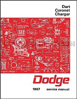 1967 dodge charger coronet dart repair shop manual reprint rh amazon com