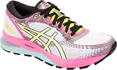568ab46968e ASICS Gel-Nimbus 21 Optimism Women's Running Shoe, Cream/White, 6 M