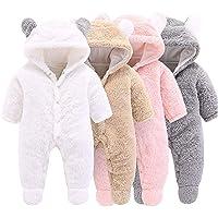 Haokaini Mameluco de Punto para bebé recién Nacido Mono de Invierno para niños y niñas