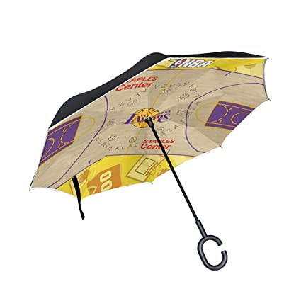 Amazon.com: ONELUCA Lakers paraguas de baloncesto para coche ...