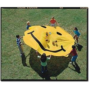 12' Smile Face Yellow Parachute