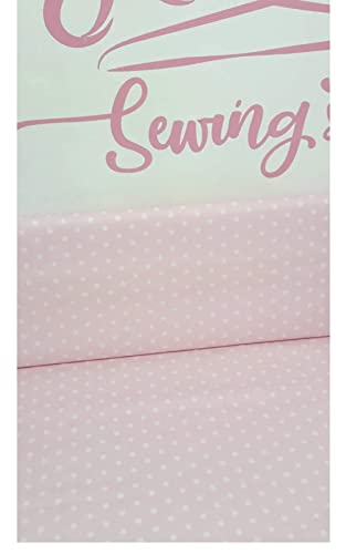 Tela Estrella blanca con rosa bebe Algodón 100% Infantil ...