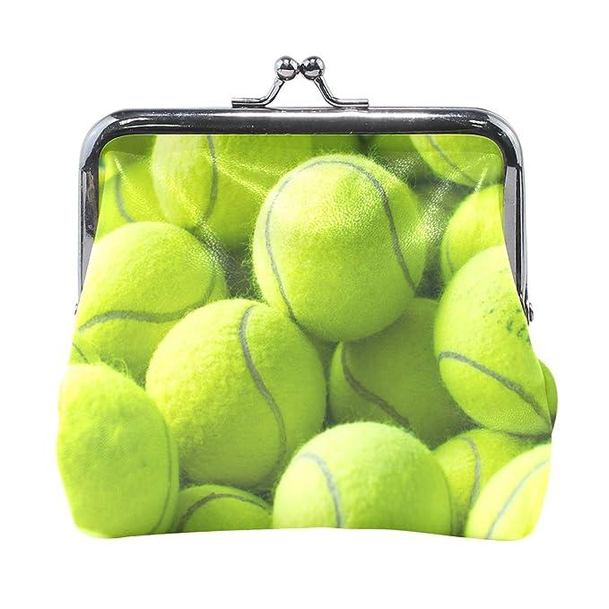 Amazon.com: DERLONKAJE Monedero Bolas de Tenis para Mujer ...