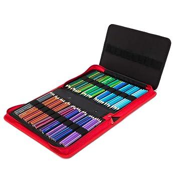 SUPVOX Estuche para lápices de lona coloreada con cierre de ...