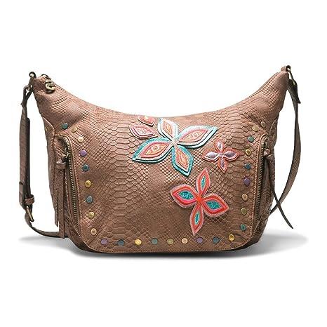 Desigual Fly Patch Somalia Handtasche: : Bekleidung