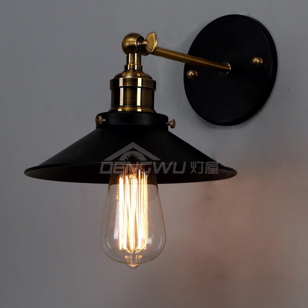 American country Vintage attic wall lamp single bedroom wall lamp Black Dance Festival GY119 lo11