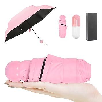 Paraguas Plegable, (DISEÑO ÚNICO) CAMTOA Mini Paragua/Paraguas Ultraligero, Ultra Mini