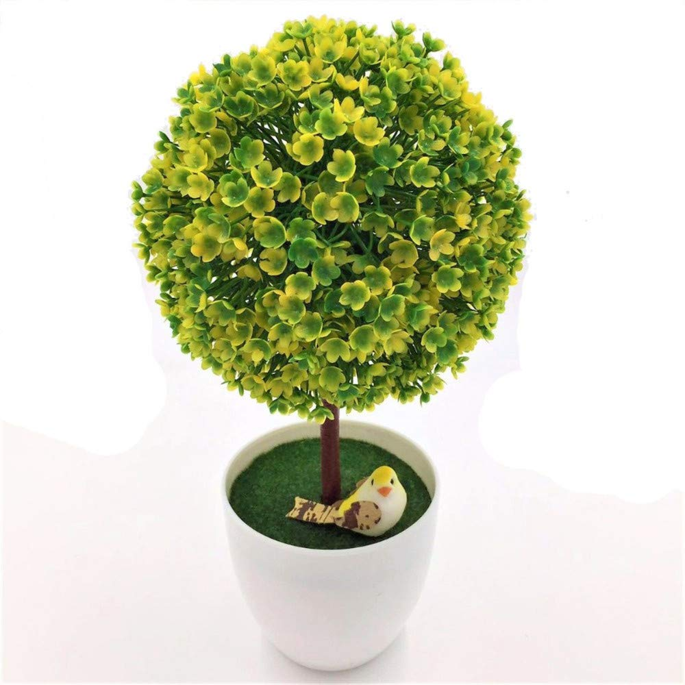 MARJON-FlowersHome-Decorative-Artificial-Artificial-Topiary-Ball-Flowers-Fake-Green-Pot-Plants-Ornaments-Home-Decor-Emulate-Bonsai-in-White-Hybrid-Plastic
