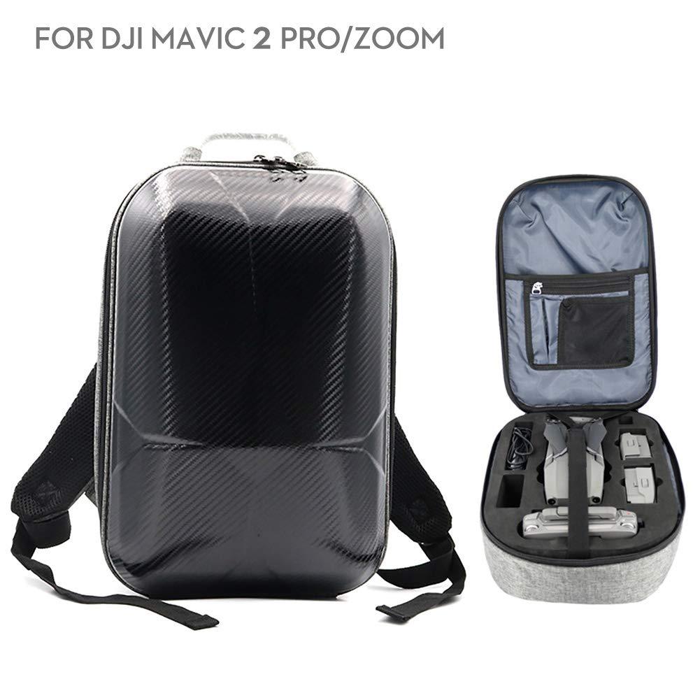 Beyondsky Mavic 2 Shoulder Backpack Carrying Case EVA Insert Hardshell 4 Batteries Storage Bag for DJI Mavic 2 Pro DJI Mavic 2 Zoom
