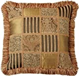 Multicolored Green Patchwork 18 x 18 Nairobi  Pillow