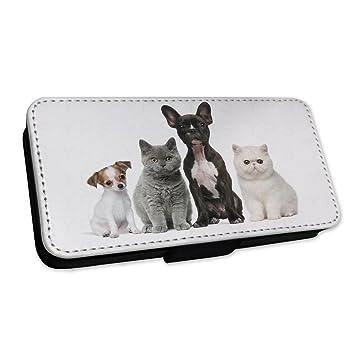 Adorable gatitos y cachorros - perros y gatos - Funda con tapa tipo cartera funda Samsung A7 (2017): Amazon.es: Electrónica