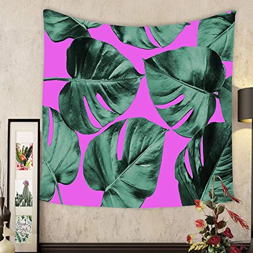 Keshia Dwete Custom tapestry colorized monstera leaves in different color background abstract background ideal for wallpaper