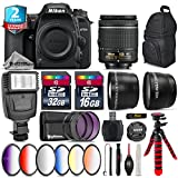 Holiday Saving Bundle for D7500 DSLR Camera + 55-300mm VR Lens + AF-P 18-55mm + Battery Grip + Shotgun Microphone + LED Kit + 2yr Extended Warranty + 32GB Class 10 Memory - International Version