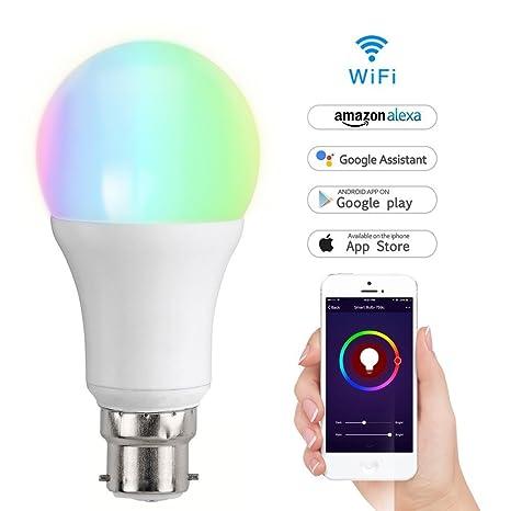 Bombilla LED inteligente e inalámbrica con wifi, que funciona con el sistema Alexa