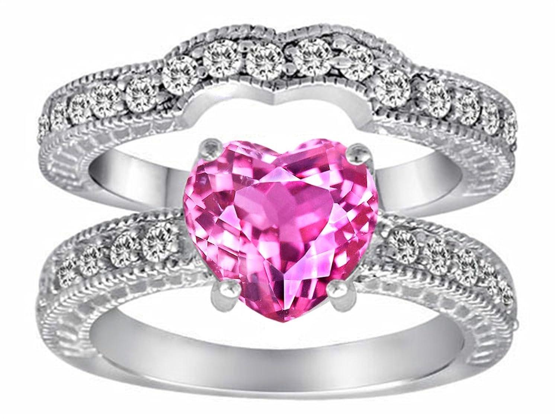Amazon.com: Star K Sterling Silver Heart Shape Promise Wedding Ring ...