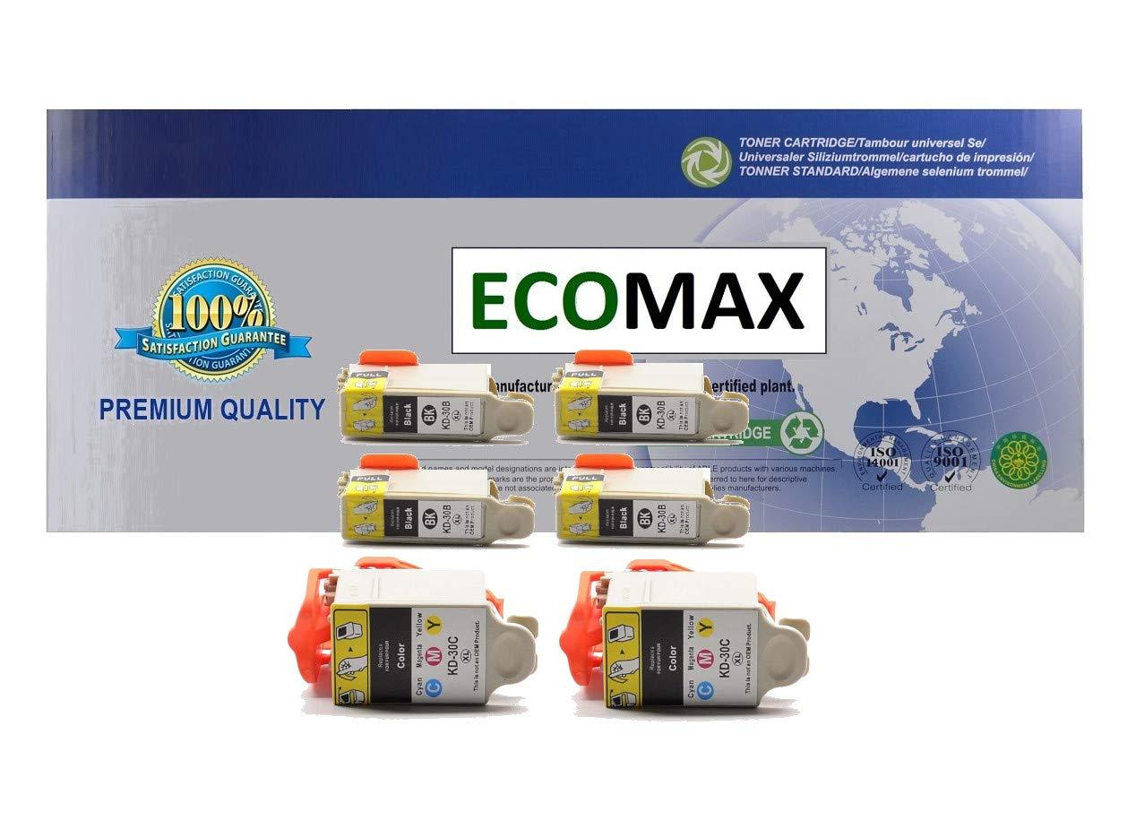 Amazon.com: ECOMAX - Juego de 6 cartuchos de tinta de alto ...