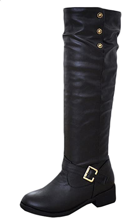 pour Bottines Bottes Bottes Doublure Profil Chaude Bottes Cuir Peluche Bottes artificielles à Boucles d'hiver Femmes Chaussures d'hiver Scothen LpqSGUzVM