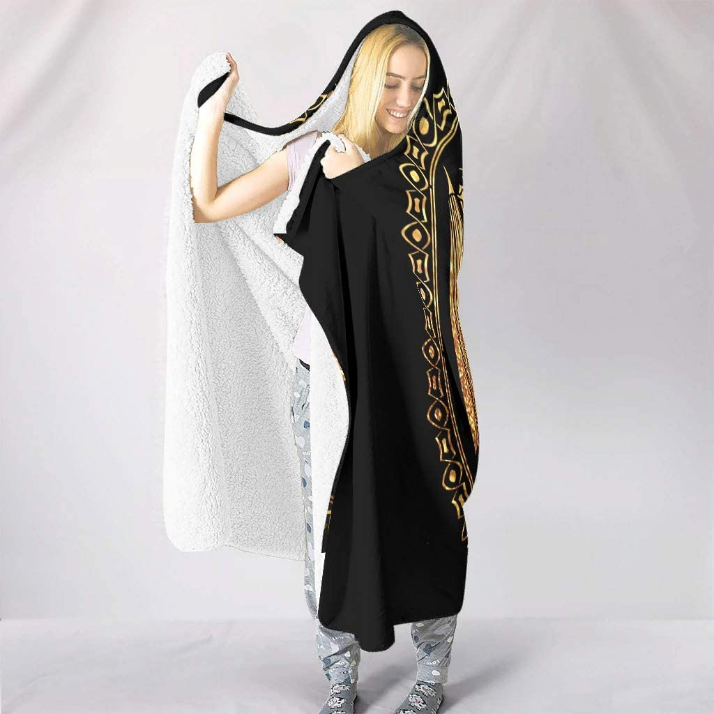Festhad Norse Viking Two Dragon Mythology Print Hooded Blankets Lightweight Super Soft Warm Winter Fleece Cosplay for Adults Kids Snuggling Chair Bedding White 50x60 inch