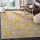 Safavieh Porcello Collection PRL7737C Light Grey and Yellow Area Rug, 6′ x 9′ Review