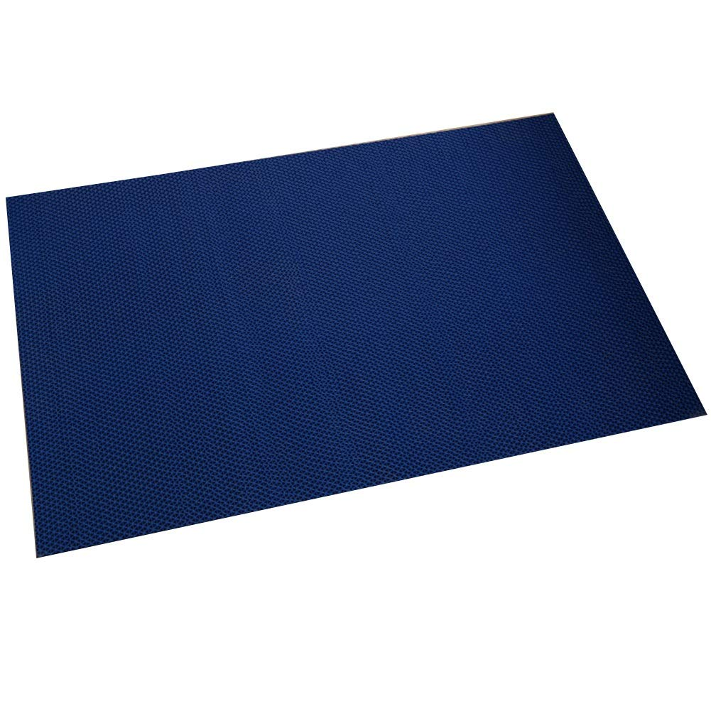 Bath Mat,Kids' Bath Rugs Bath Mat Rug Take A Shower Household Non-Slip Mat Carpet Door Mat Home Bathroom Foot Pad Thicken Hollow Plastic WEIYV (Color : Blue, Size : 120180cm)