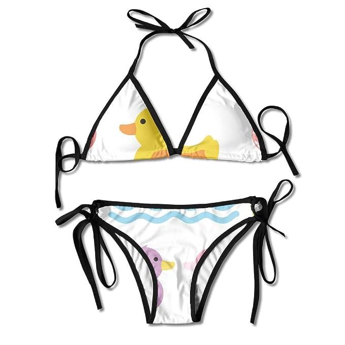 Amazon.com: Colorido Pato Natación bikini mujer bañadores de ...